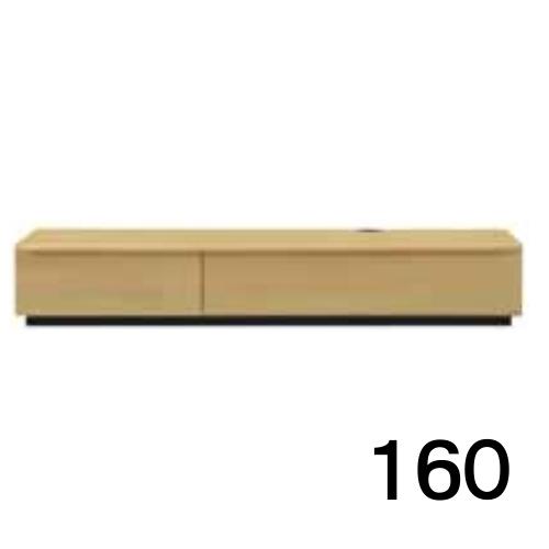 【6月20日頃お届け】 テレビボードMV 160 オーク色 家具のよろこび 【店頭受取対応商品】