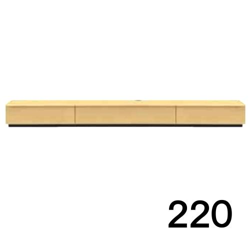 【4月下旬お届け】 テレビボードMV 220 1段タイプ メープル色 天板&側面ツキ板ver. 家具のよろこび 【店頭受取対応商品】