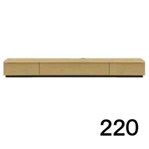 【8/9 1:59までエントリーで誰でも14倍】 テレビボードMV 220 オーク色 天板&側面ツキ板ver. 家具のよろこび 【店頭受取対応商品】