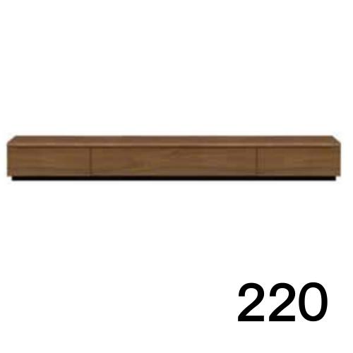 【8/9 1:59までエントリーで誰でも14倍】 テレビボードMV 220 ウォールナット色 天板&側面ツキ板ver. 家具のよろこび 【店頭受取対応商品】