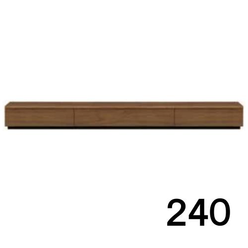 【8/9 1:59までエントリーで誰でも14倍】 テレビボードMV 240 ウォールナット色 天板&側面ツキ板ver. 家具のよろこび 【店頭受取対応商品】