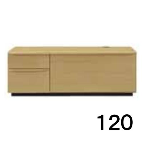 【6月20日頃お届け】 テレビボードMV 120 オーク色 2段タイプ 家具のよろこび 【店頭受取対応商品】