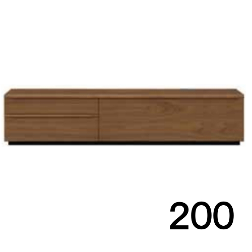 【4月下旬お届け】 テレビボードMV 200 ウォールナット色 2段タイプ 家具のよろこび 【店頭受取対応商品】