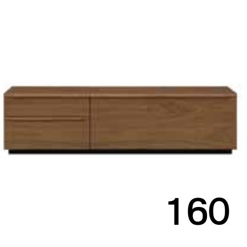【6月上旬お届け】 テレビボードMV 160 ウォールナット色 2段タイプ 家具のよろこび 【店頭受取対応商品】