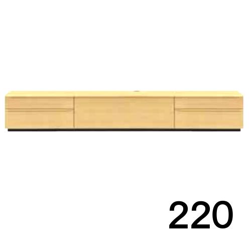 【6月末頃お届け】 テレビボードMV 220 2段タイプ メープル色 天板&側面ツキ板ver. 家具のよろこび 【店頭受取対応商品】