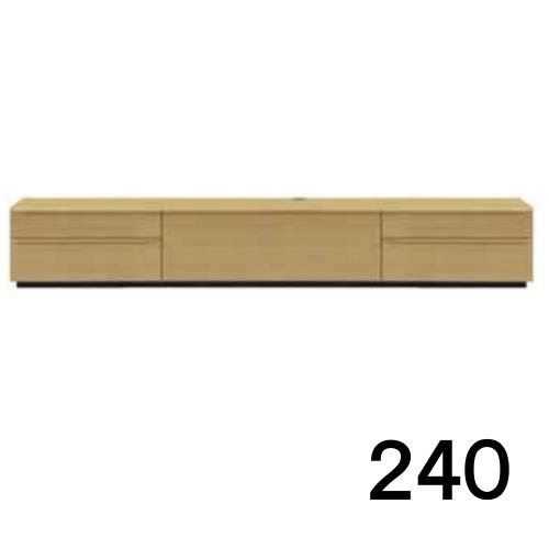 【7月20日頃お届け】 テレビボードMV 240 オーク色 2段タイプ 天板&側面ツキ板ver. 家具のよろこび 【店頭受取対応商品】