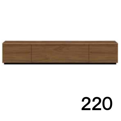【7月20日頃お届け】 テレビボードMV 220 ウォールナット色 2段タイプ 天板&側面ツキ板ver. 家具のよろこび 【店頭受取対応商品】
