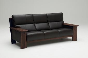 【6/6までP10倍】 カリモク 本革3Pソファー 平板タイプ ZU48A3K353 送料無料 家具のよろこび 【店頭受取対応商品】