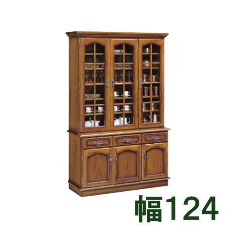 カリモク 食器棚 幅124 EC4300NK ブナ 送料無料 家具のよろこび 【店頭受取対応商品】
