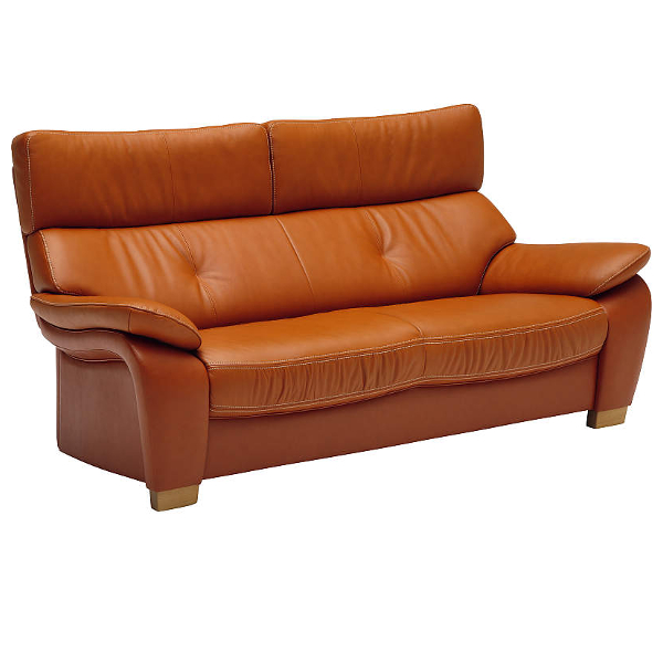 KARIMOKU Genuine Leather Sofa 2P Long Wide ZT7322WS