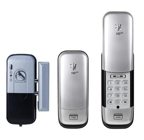 安心の 電池式 オートロック ロックマンジャパン 電池錠 ID-502TAB 暗証番号 定番 解錠 カード 豊富な品 で 縦型