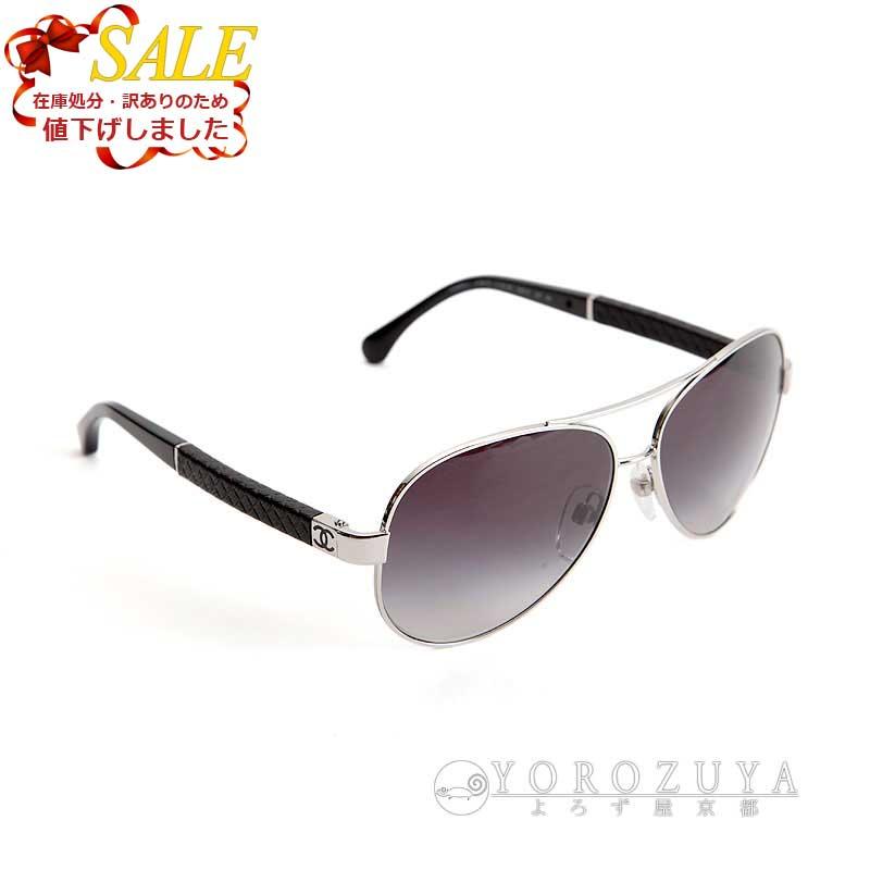 28dee92bb7b6 CHANEL Chanel sunglasses 4195-Q C.127/3C black gradation side: Matelasse ...