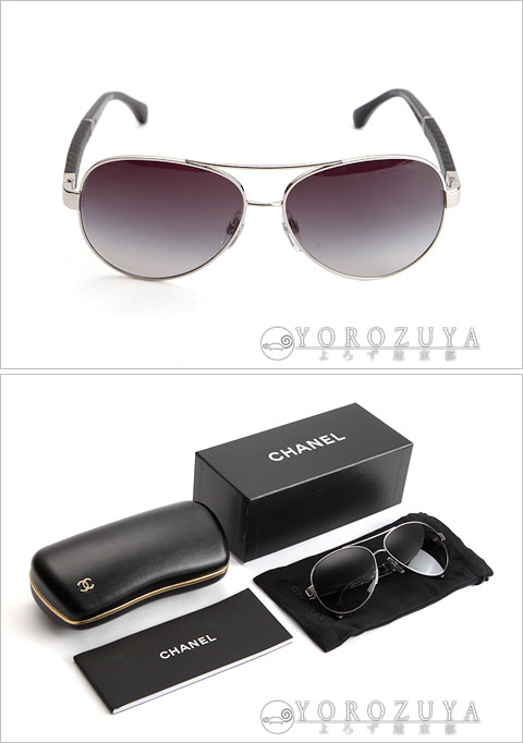CHANEL Chanel sunglasses 4195-Q C.127/3C black gradation side: Matelasse (black)