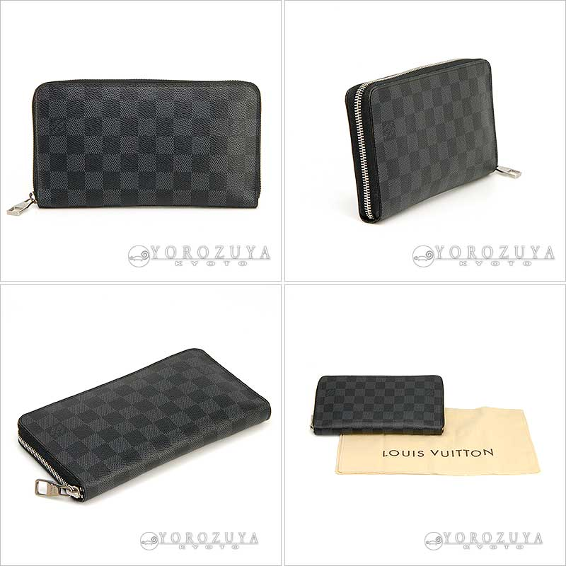 e4380867a47e グラフィット ラウンドファスナー長 LOUIS VUITTON ルイ?ヴィトン ジッピー?オーガナイザー N63077 ダミエ?グラフィット  ラウンドファスナー長 ...