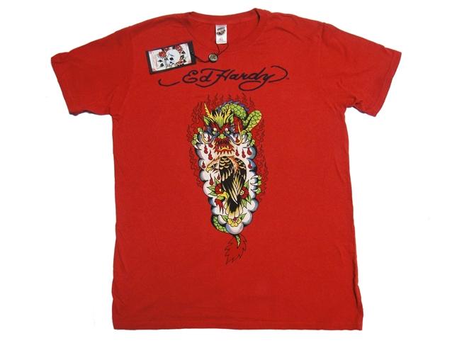 エドハーディー By クリスチャン・オードジェー Ed Hardy メンズ Tシャツ ドラゴン&イーグル サイズXL