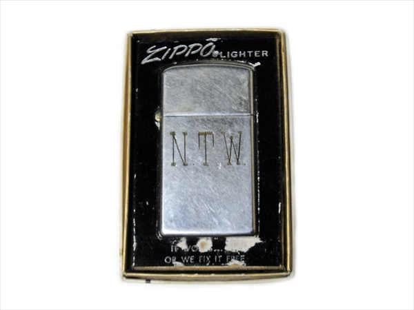ジッポ Zippo ビンテージ 1961年 (‥ zippo ‥)スリムジッポー ライター 中古