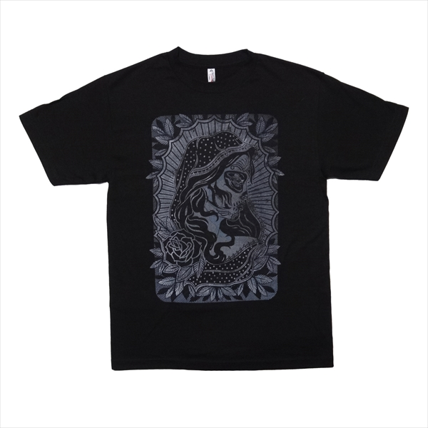 LA直輸入 タトゥー メンズ Tシャツ キャラクター バラ