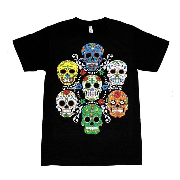スカル カラフル ドクロ Tシャツ LAで大人気!
