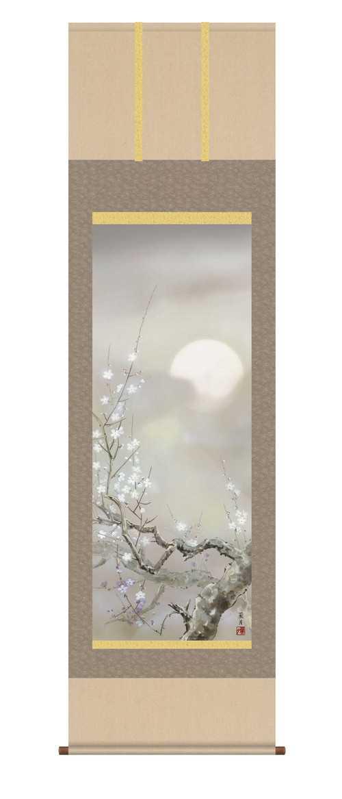 掛軸 「宵桜」 吉井蘭月 筆 【掛け軸 掛軸 年中】