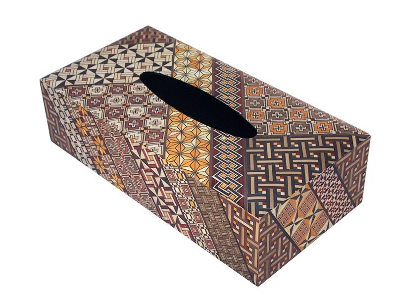 【箱根寄木細工】 箱根寄木細工 ティッシュボックス 小寄木