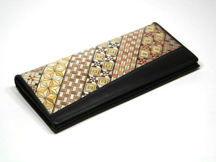 寄せ木細工コーティングシリーズ カード6段札入れ