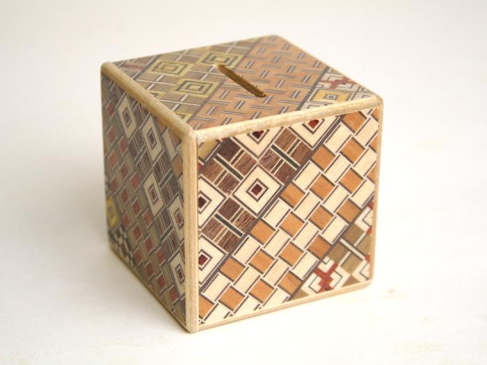寄木細工 豆秘密箱2回仕掛け 内祝い 大人気 貯金箱