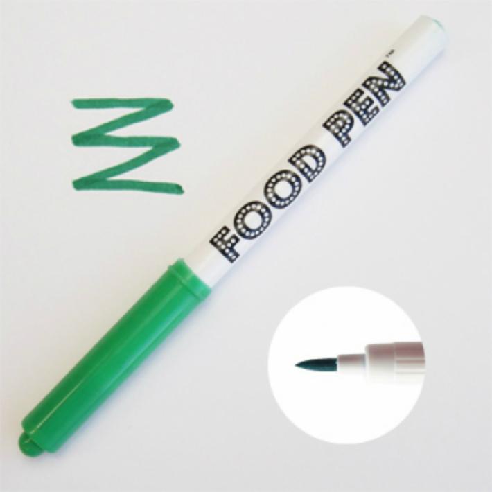 メール便対応アイシングクッキー 全店販売中 マシュマロ マカロン オブラートなどに描けます FOODPEN ファッション通販 グリーン フードペン 緑