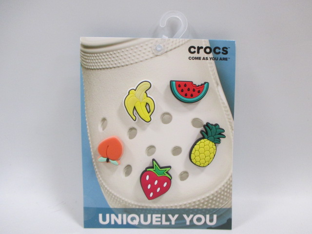 サンダルアクセサリー ばなな ウォーター メロン もも ストロベリー crocs クロックス 10007584 ジビッツ チャーム 贈答品 Fruit 正規品 イチゴ フルーツ バナナ ピーチ パイナップル 5Pack 商品 5個入り スイカ