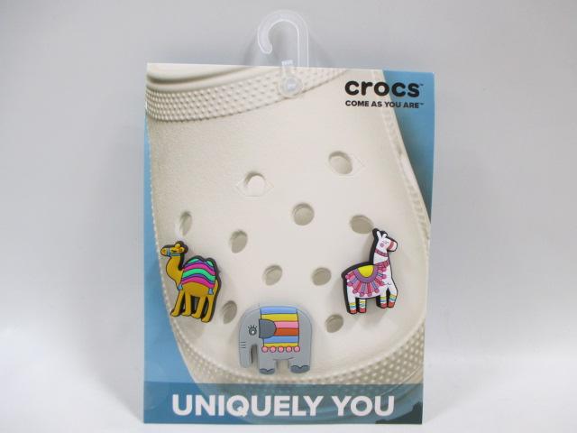 スーパーセール期間限定 アニマル サンダルアクセサリー crocs クロックス 10007705 ジビッツ チャーム Colorful ゾウ ラマ アウトレット ラクダ 3個入り Animal 動物 3-Pack 正規品