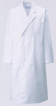 信頼のKAZEN カゼン 製品 S~6L 白衣 即日出荷可 男性ドクター用診察衣ダブル型 長袖 お得 115-30男性 5%OFF 男子 0380120201P 栄養士 理科の先生 ドクター 医師用 検査着 薬剤師 実習衣 メンズ 実験衣