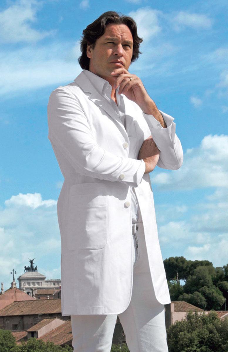 【ラッキーシール対応】白衣 ワンランク上の品格「ISARTI」(イサルティ) 男性用/メンズドクターハーフコートIS210-10【】
