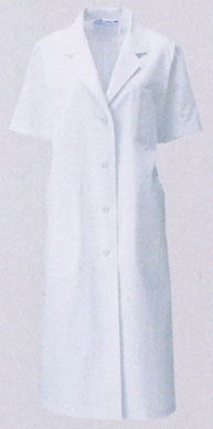 KAZEN カゼン 旧商標アプロン 高級品 白衣 122-30 女性ドクター診察衣シングル型白衣 即日出荷可 時間指定不可 半袖