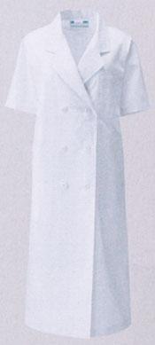 KAZEN カゼン 旧商標アプロン 往復送料無料 白衣 女性ドクター診察衣ダブル型白衣 127-30 お洒落 半袖 即日出荷可