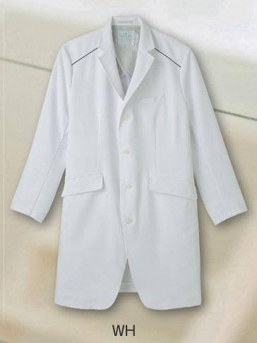 【ラッキーシール対応】白衣 医療のプロフェッショナルの皆様へ《Primevere》シリーズハーフ丈ドクターコートSP/XM-001-WH【】
