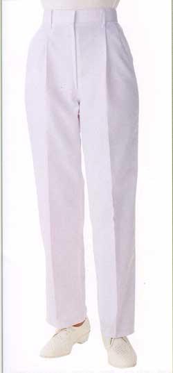 KAZEN(カゼン、旧商標アプロン) 白衣 女性スラックス/半ゴム/ストレッチホワイト821-90【】