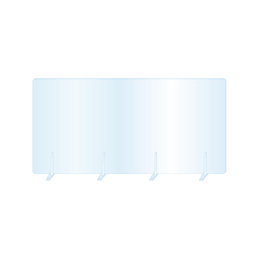 デスクパーティション 机 デスク 仕切板 オフィス レストラン 飲食店 相席 カウンター席 店舗 事務所 会社 日本製 高い素材 板厚3mm 高透明 仕切り板 アクリルパーテーション W1200xH650mm 組立式 薬局 fbap3-12065 衝立 受注生産 ウイルス対策 学校 角丸加工 返品交換不可 病院 美品 対面式スクリーン