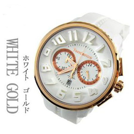 【正規品】テンデンス(TENDENCE) ガリバー ラウンド クロノ   TG046014 ホワイト×ピンクゴールドカラー  腕時計【送料無料】【クリスマス】05P04Jun19
