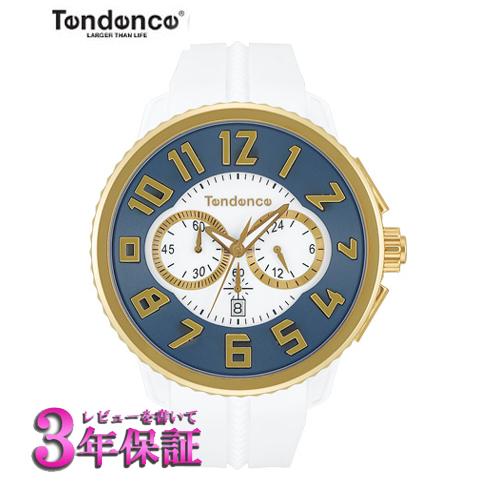 【正規品】TENDENCE GULLIVER テンデンス ガリバー ラウンド クロノグラフ  腕時計 TY046016 [正規輸入品] ネイビー×ゴールド 【送料無料】