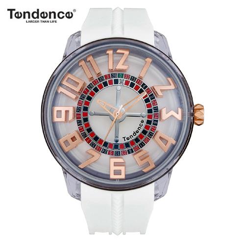 【正規4年保証】テンデンス Tendence 腕時計 King Dome ホワイト文字盤 TY023003 メンズ 【正規輸入品】【ルーレット部分がくるくる回転します】【送料無料】【父の日】05P04Jun19
