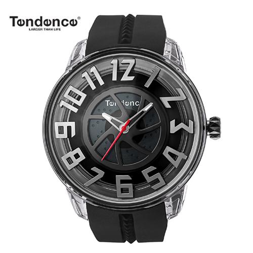 テンデンス Tendence 腕時計 King Dome ブラック文字盤 TY023001 メンズ 【正規輸入品】4年保証【文字盤中央ホイール部分がくるくる回転します】【送料無料】05P04Sep18