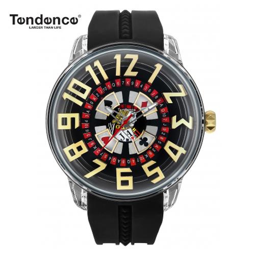 (あす楽)クーポン テンデンス 【正規4年保証】Tendence 腕時計 King Dome ブラック/ホワイト文字盤 TY023005 メンズ 【正規輸入品】オーバーサイズノートブックをプレゼント!【送料無料】