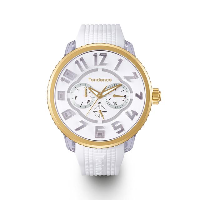(あす楽)【5%OFFクーポン】【正規品】テンデンス フラッシュ 7色レインボー ホワイトモデル LED搭載 4年保証 プレゼントに最適!! (限定品) (TENDENCE FLASH )  メンズ/レディー 兼用腕時計 腕時計 TY562005 ※オーバーサイズノートブックをプレゼント
