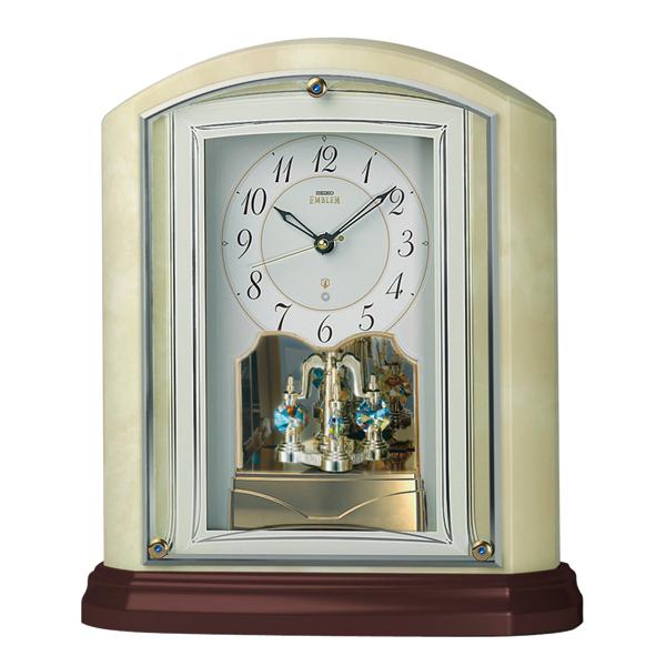セイコー オニキス置時計 エムブレム 電波時計 (EMBLEM) HW590M【送料無料】【名入れ】【のし宛書】【包装】【送料無料】05P04Sep18
