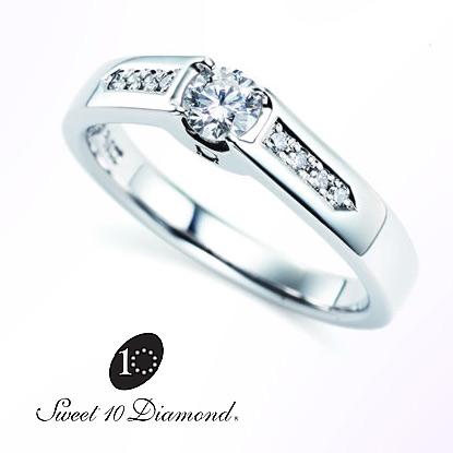 【正規品】 スイート10ダイヤモンド Sweet 10 Diamond Pt900 ダイヤモンドリング CIRCLE(サークル) 0.20ct/0.06ct 【正規鑑定書カード付き】【正式スイート10ダイヤモンド】【スウィート10】【結婚10周年】【プレゼント】【贈り物】【記念ジュエリー】PRSDG11004