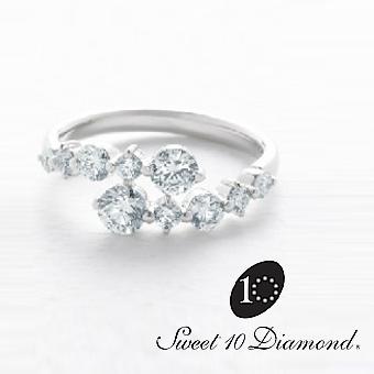 【正規品】 スイート10ダイヤモンド Sweet 10 Diamond Pt900 ダイヤモンドリング STANDARD(スタンダード) 1.00ct 在庫サイズは11号【正規保証書付き】【スウィート10】【結婚10周年】【プレゼント】【贈り物】【記念ジュエリー】【ナガホリ正規モデル】PRSD10004