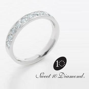 【正規品】 スイート10ダイヤモンド Sweet 10 Diamond Pt900 ダイヤモンドリング Honesty 0.50ct 【正規保証書付き】【スウィート10】【結婚10周年】【プレゼント】【贈り物】【記念ジュエリー】【送料無料】【ナガホリ正規モデル】PRSD10020