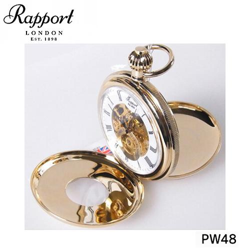 [ラポート] RAPPORT 懐中時計 ダブルハンターケース スケルトン 手巻き式 PW48【正規輸入品】 【新品】【送料無料】¥60,480