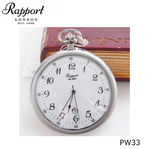 [ラポート] RAPPORT 薄型 懐中時計 クォーツ式 PW33【正規輸入品】 【新品】【送料無料】
