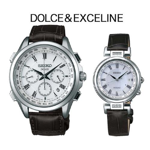 SEIKO セイコー ドルチェ&エクセリーヌ ペアウォッチ 電波ソーラ 腕時計  SADA039 SWCW109  メンズ【送料無料】