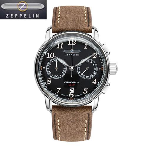 (あす楽) [ツェッペリン]ZEPPELIN 腕時計 LZ127グラーフ・ツェッペリン ブラック文字盤 86782 メンズ 【正規輸入品】8678-2